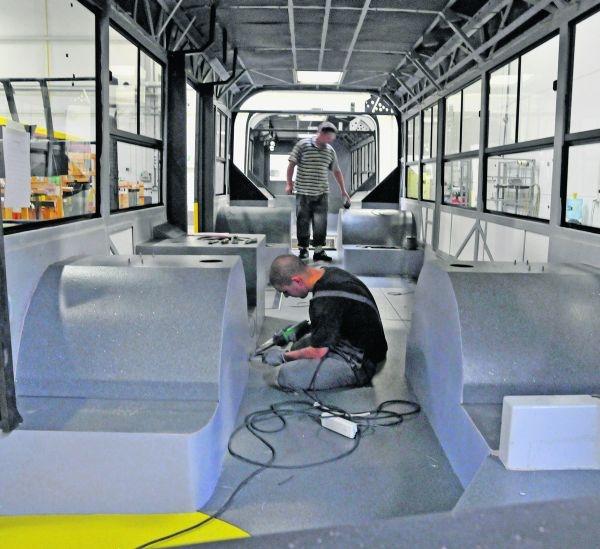 Tramino mogą być produkowane w halach w Bolechowie, gdzie dzisiaj powstają autobusy