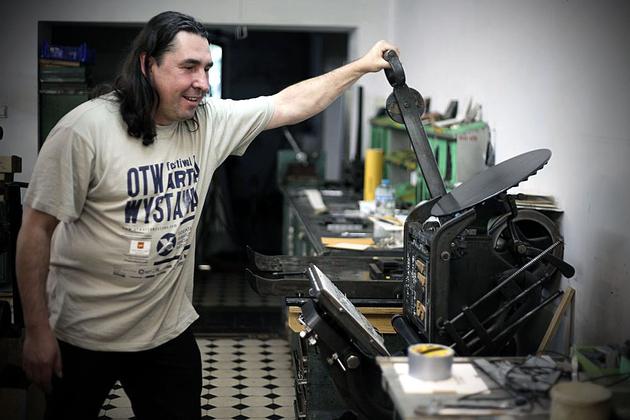 Maszyna drukarska, której dźwięk wykorzystano podczas koncertu
