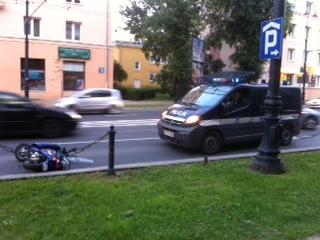Ul. Lipowa: Motorowerzysta potrącił pieszego (ZDJĘCIA)