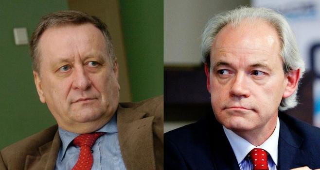 Poseł Adam Szejnfeld z PO (z prawej), porównując PiS do NSDAP, cytował... poznańskiego radnego PO (z lewej)