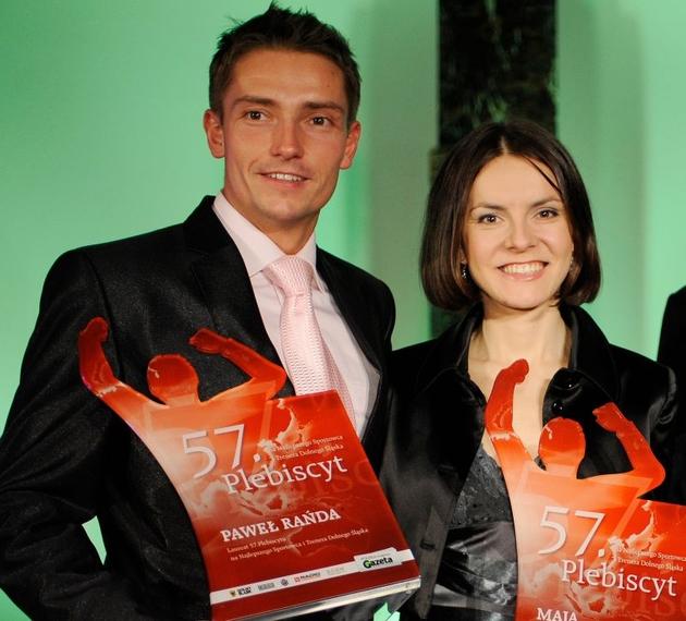 Paweł Rańda i Maja Włoszczowska