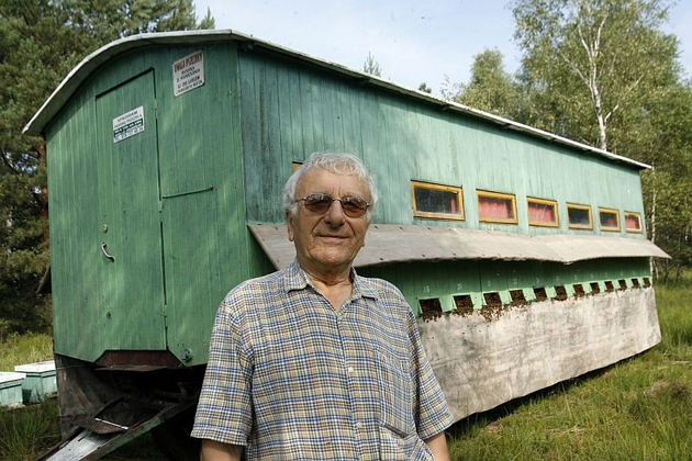 Zygmunt Wereszko przyjeżdża od lat na przemkowskie wrzosowiska. Ma swoje miejsce