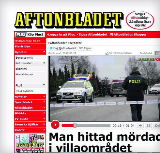 Sprawą śmierci Polaka zainteresowały się szwedzkie serwisy internetowe