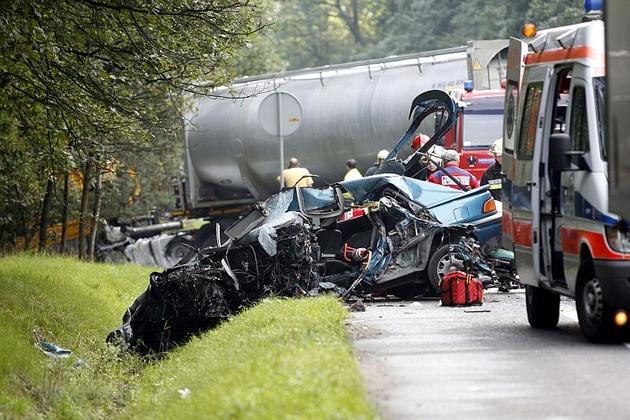 Lubin: Śmiertelny wypadek na drodze wylotowej z miasta
