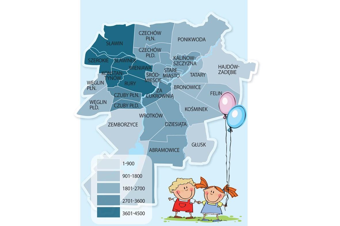 Dzielnice Lublina Mapa Kurierlubelski Pl