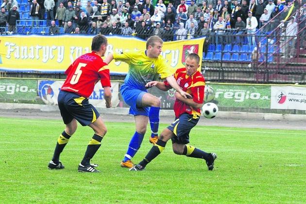 Kamil Oziemczuk dwukrotnie miał szansę na zdobycie gola, jednak pudłował.