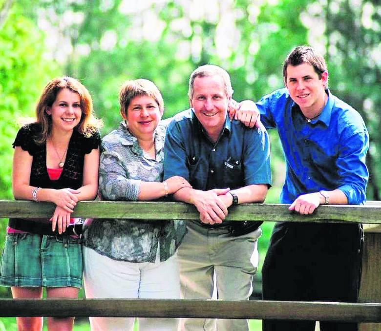 Rodzina Gillinów: Jennifer, Ailsa, Peter i Andy. Zdjęcie z 2005 roku