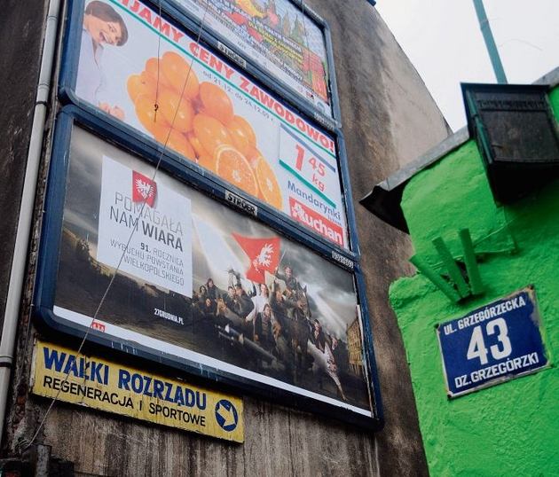 Powstańczy billboard można oglądać w Krakowie