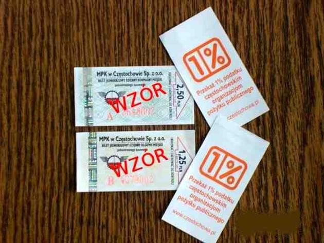 Bilety z logo akcji