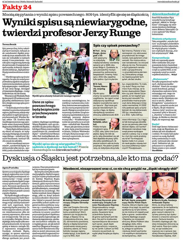 Swoje tezy powtórzył na konferencji naukowej w Katowicach  16 kwietnia br.