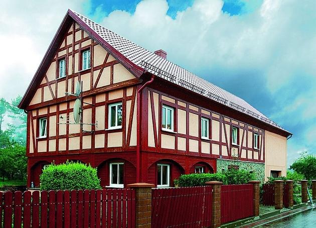 Domy przysłupowe - najbardziej charakterystyczny przykład  kultury łużyckiej