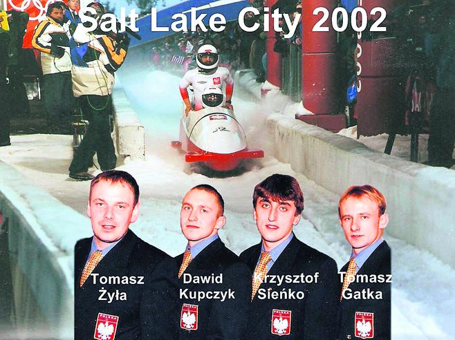 Syn, czyli Tomasz Żyła, z załogą. 18. miejsce w Salt Lake City