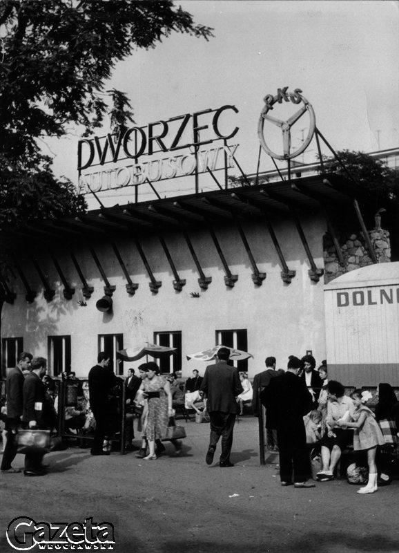 Wrocław, lata 70.Stary Dworzec Autobusowy PKS.