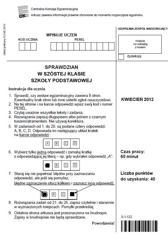 STRONA 1 TESTU