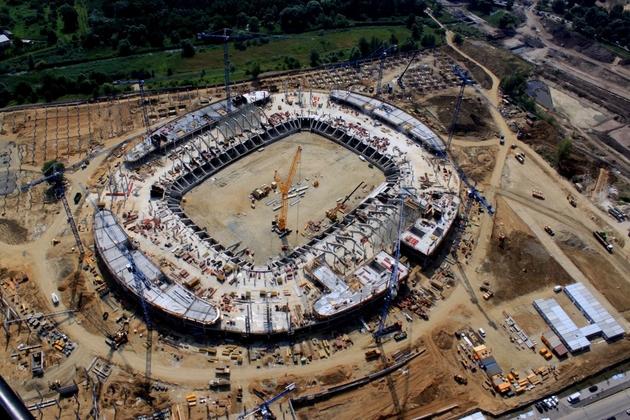 Fotoblog z budowy stadionu - 01.07.2010
