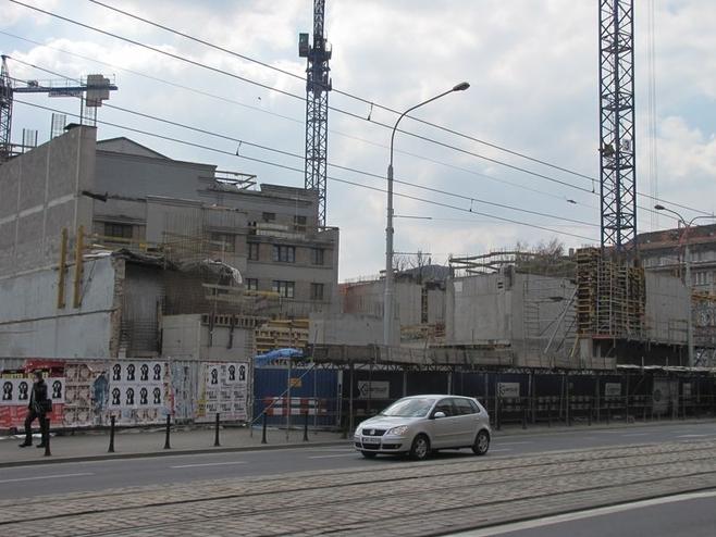 Elewacja budynku od strony ul. Piłsudskiego