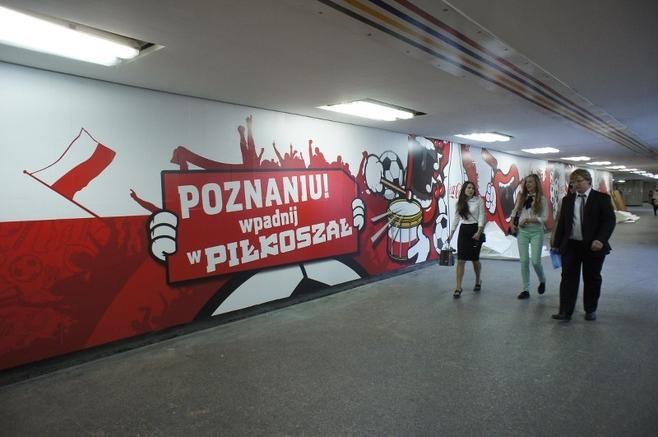 Poznań: Przejście pod Kaponierą wystrojone na Euro 2012 [ZDJĘCIA]