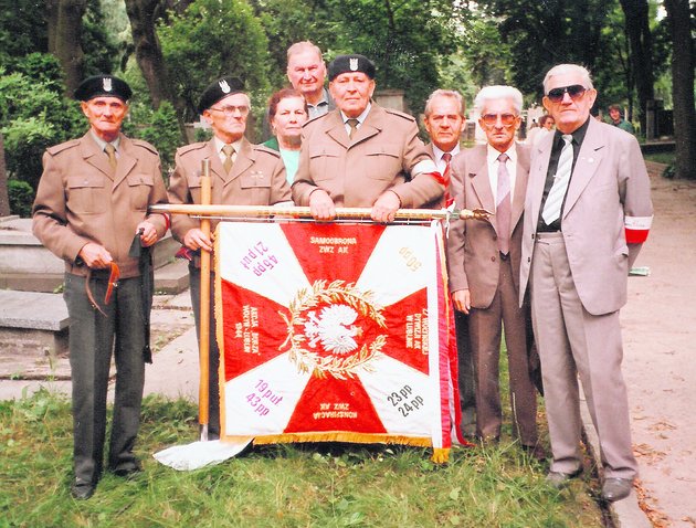 Sztandar Środowiska Żołnierzy 27. Wołyńskiej Dywizji Piechoty AK w Lublinie
