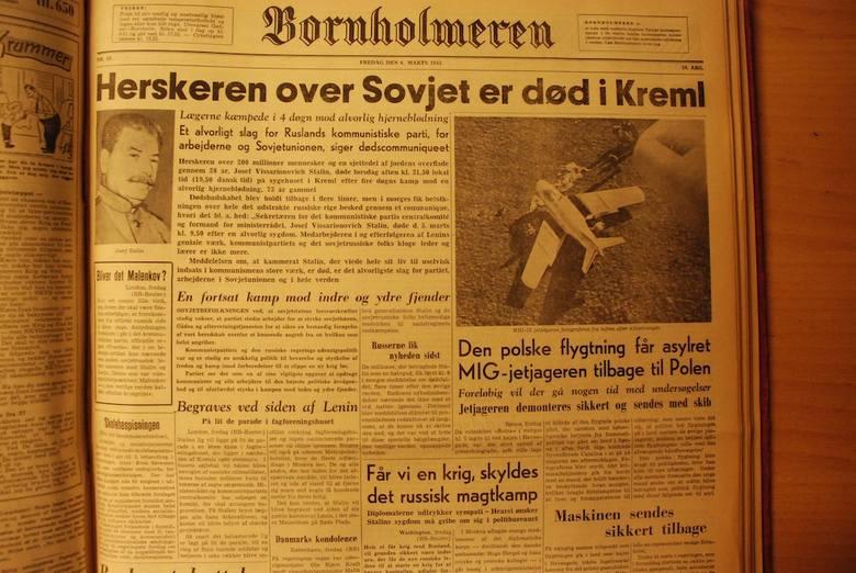 Informacja prasowa o ucieczce na Bornholm por. Franciszka Jareckiego, rok 1953