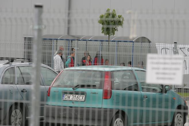 Protest przed chińską fabryką pod Wrocławiem (ZDJĘCIA)