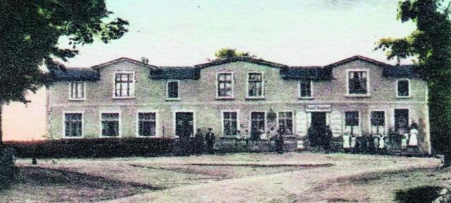 Dom Gruszków w Liniewie - widok z początku XX w.