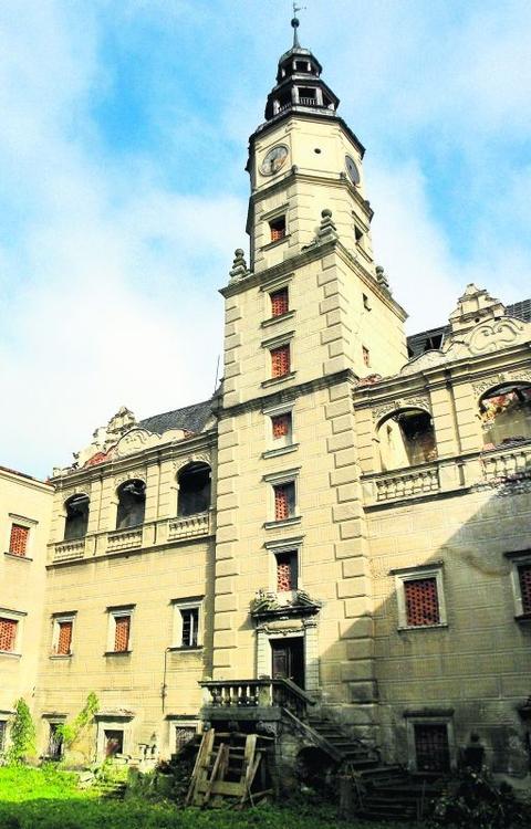 W pałacu w Gorzanowie jest ponad 100 pomieszczeń
