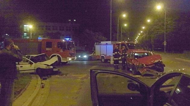Wrocław: Kolizja na skrzyżowaniu ul. Kamiennej z Wapienną (FILM)
