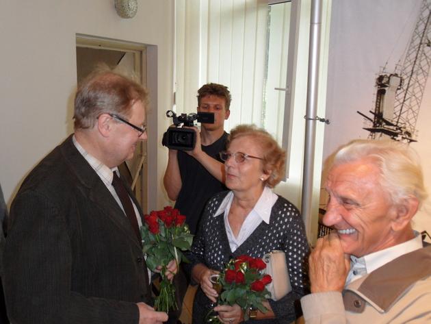 Na wernisażu wystawy była także Emilia Bacia, matka chrzestna M/S Radzionków