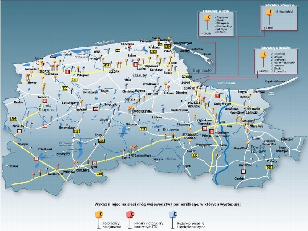 Mapa Pomorza Dziennikbaltycki Pl