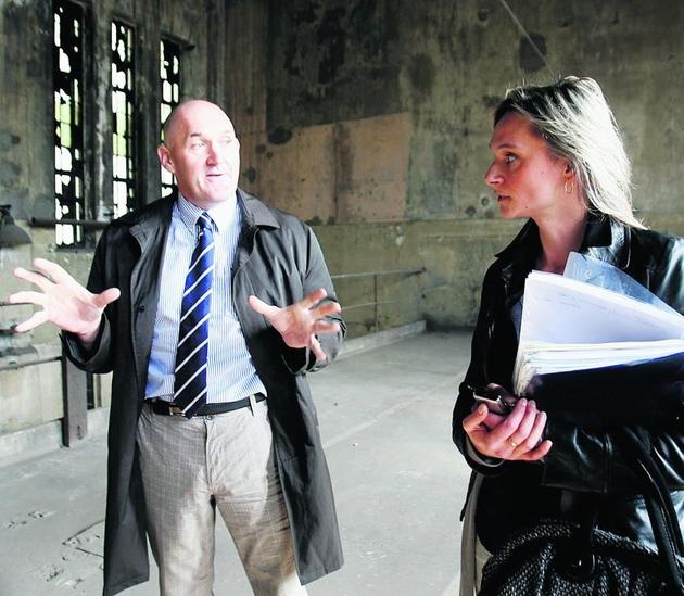 Philip Healy jest zachwycony dawną legnicką wieżą gazową