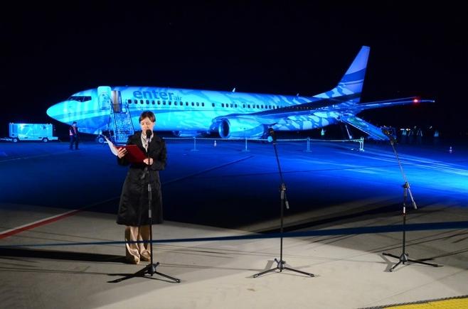Oficjalnie otwarto rozbudowaną drogę kołowania i płytę postojową lotniska.