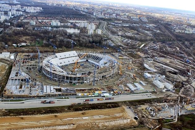 Tak powstawał stadion we Wrocławiu (ZDJĘCIA)