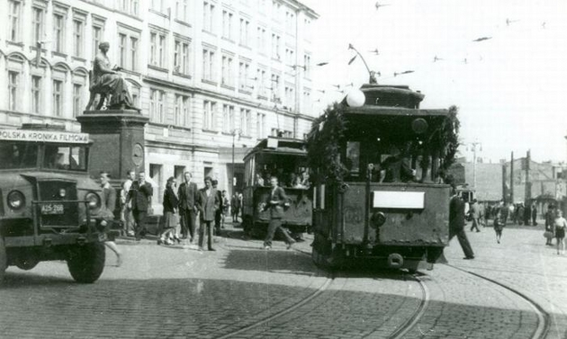 Parada z 1948 roku. Aleje Marcinkowskiego