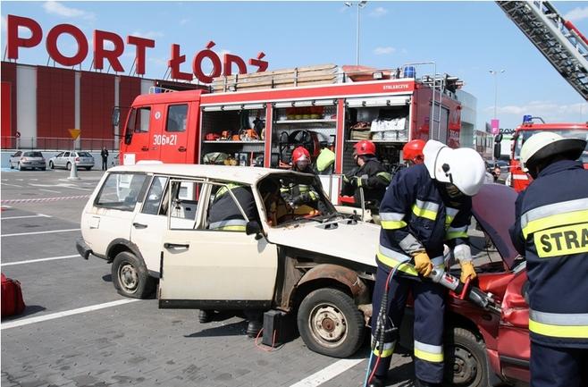 Akcja ratunkowa w Porcie Łódź [ZDJĘCIA]