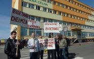 Protest pracowników chełmżyńskiego Bioetanolu przed Izbą Celną w Toruniu [zdjęcia]