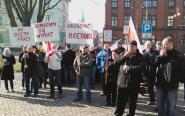 Protest pracowników chełmżyńskiego Bioetanolu przed Urzędem Wojewódzkim w Bydgoszczy [wideo i foto]