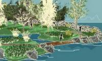 Propozycja zagospodarowania terenu wokół zbiornika. (Wizualizacja: Materiały UM w Kluczborku)