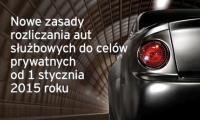Od stycznia nowe zasady rozliczania aut służbowych do celów prywatnych