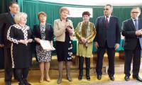 Nagrodę odebrała prezes Społem PSS Antonina Turkowicz oraz zastępca burmistrza Bielska -  Bożena Teresa Zwolińska.