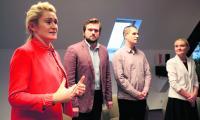 Rektor WHSZ dr inż. Monika Zajkowska (na zdjęciu) pokreśliła, że projekt kształcenia kadr dla branży ICT jest innowacyjny społecznie.