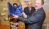 Lesław Wojtas, prezes PBS podczas spotkania z klientami biznesowymi w Świlczy. Fot. Dariusz Danek