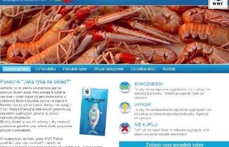 """Zrzut strony internetowej poradnika """"Jaka ryba na obiad?"""""""