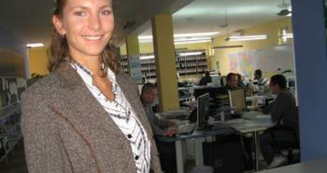 Olga Juchniewicz z firmy Trans Logistyka podkreśla, ze decyzja o budowie fabryki w strefie to był bardzo dobry pomysł (fot. Beata Bielecka)