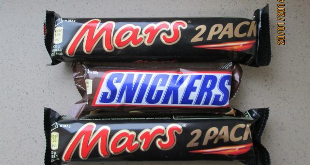Waga batonów Mars obniżyła się z 58 g do 51 g, a Snickersów została zredukowana z 58 g do 48 g