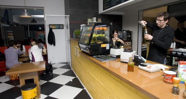 Mikshake Bar wystrojem nawiązuje do amerykańskich lokali.