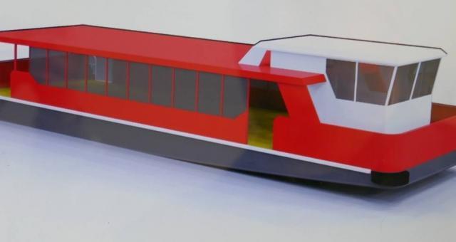Tak mają wyglądać tramwaje wodne, które pomieszczą do 130 pasażerów.