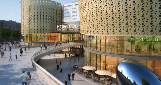 W Galerii Korona Kielce będzie 16 lokali gastronomicznych.