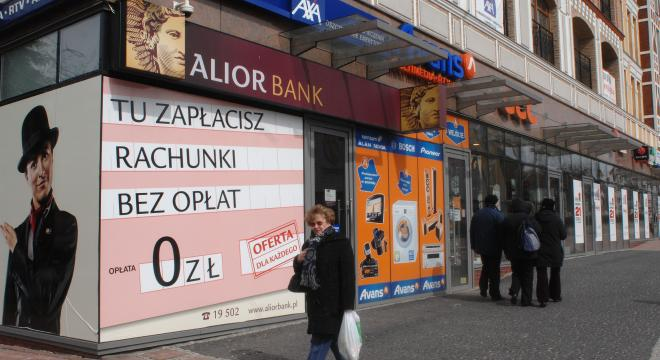 Tradycyjny oddział Alior Banku mieści się m.in. w centrum Koszalina.