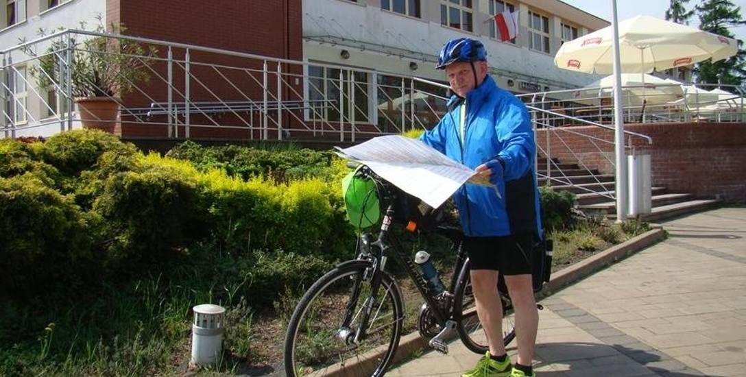Kęty. Przemierza na rowerze całą Polskę i w ten sposób niesie pomoc potrzebującym