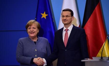 """Angela Merkel po spotkaniu z Mateuszem Morawieckim: """"Zdecydowanie popieramy format Trójkąta Weimarskiego"""""""